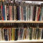 Random books on a shelf